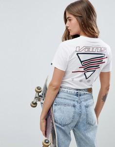 Белая футболка с принтом на спине Vans - Белый