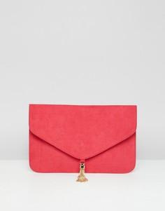 Клатч с кисточками ASOS DESIGN - Красный
