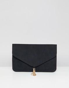 Клатч с кисточками ASOS DESIGN - Черный