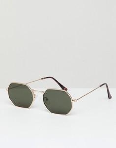 Шестиугольные солнцезащитные очки Jeepers Peepers - Золотой