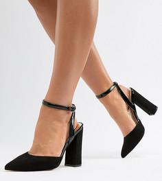 Туфли для широкой стопы с ремешком на щиколотке River Island - Черный
