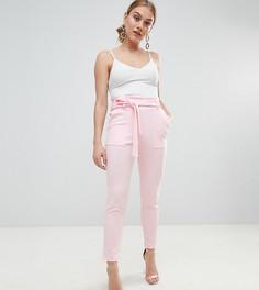 Брюки с поясом Boohoo Petite - Розовый