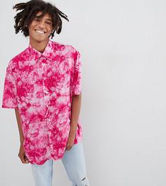 Oversize-рубашка с принтом тай-дай Milk It - Розовый