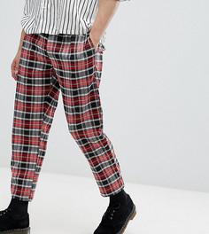 Укороченные брюки в клетку Milk It - Красный