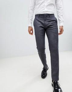 Строгие брюки скинни в клетку Farah - Синий