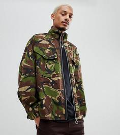 Куртка с камуфляжным принтом на молнии Milk It - Зеленый