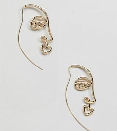 Крупные серьги-кольца DesignB London - Золотой