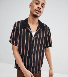 Рубашка в полоску с отложным воротником Milk It - Черный