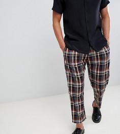 Укороченные брюки в клетку Milk It - Черный