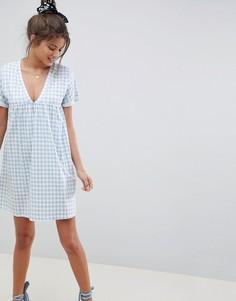 Свободное хлопковое платье в клетку ASOS DESIGN ultimate - Мульти