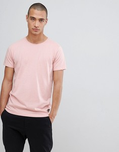 Эластичная розовая футболка с круглым вырезом Lindbergh - Серый