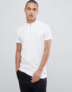Белая футболка с молнией Lindbergh - Бежевый