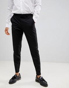 Черные зауженные брюки Burton Menswear - Черный