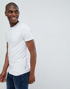 Серая меланжевая обтягивающая футболка Burton Menswear - Серый