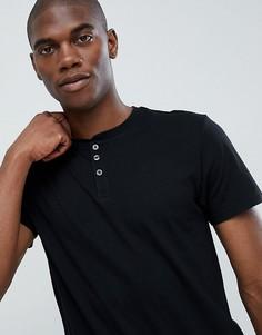 Черная футболка классического кроя Burton Menswear - Черный