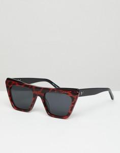 Красные квадратные солнцезащитные очки Vow London Dakota - Красный
