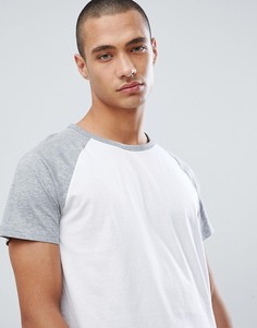 Серая футболка с рукавами реглан Burton Menswear - Серый