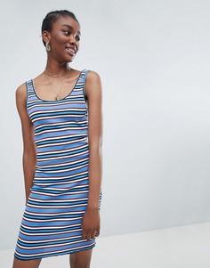 Облегающее платье в полоску New Look - Синий