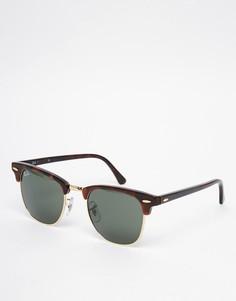 Солнцезащитные очки клабмастер Ray-Ban 0RB3016 W0366 49 - Коричневый