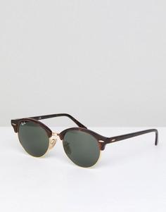 Круглые солнцезащитные очки Ray-Ban Club 0RB4246 - Коричневый