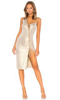 Миди платье на шнуровке danae - h:ours