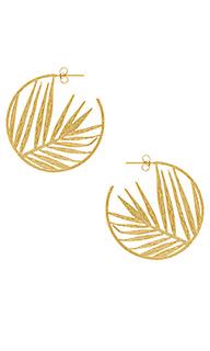 Серьги-кольца palm - gorjana