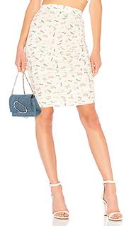 Миди юбка с оборками shirred skirt - LPA