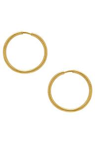 Серьги-кольца baby wire - Apres Jewelry