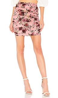 Мини-юбка с рюшами ruched skirt - LPA
