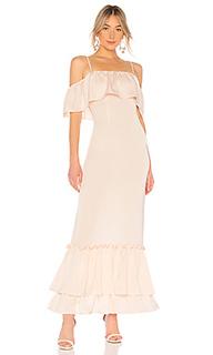 Вечернее платье с открытыми плечами tiered ruffle - LPA