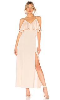 Вечернее платье с v-образным вырезом v neck ruffle - LPA