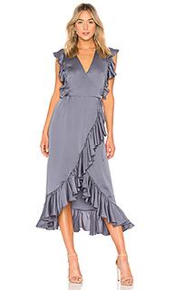 Платье миди с запахом и воланом luxe - Shona Joy