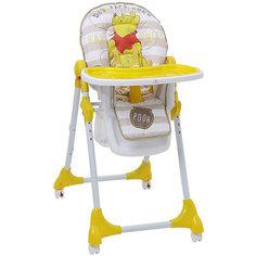 """Стульчик для кормления Polini 470 Медвежонок Винни """"Чудесный день"""" Disney baby, желтый"""