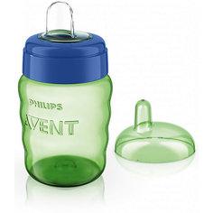 Чашка-поильник с носиком Comfort, 260 мл, Avent, зеленый/синий