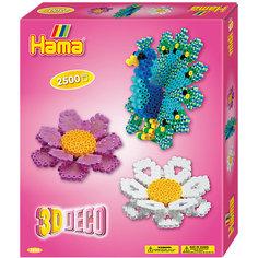 """Термомозаика Hama Perlen """"3D Цветы"""" + 1 основа, 2500 бусин"""