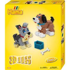 "Термомозаика Hama Perlen ""3D Собачки"" + 1 основа, 2500 бусин"