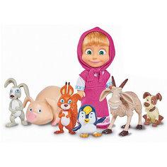 """Игровой набор Simba  """"Маша и Медведь"""" - Маша с друзьями-животными, 12 см"""