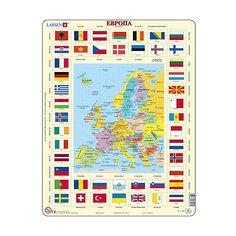 """Пазл Larsen """"Карта и флаги Европы"""", 70 элементов"""