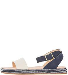 Двухцветные сандалии из натуральной кожи Clarks