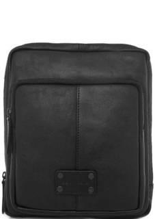 Черная кожаная сумка через плечо Gianni Conti