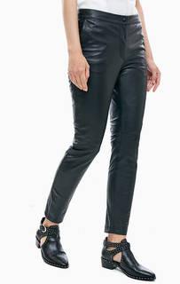 Черные брюки из натуральной кожи B.Young