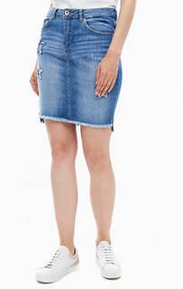 Короткая юбка из денима B.Young