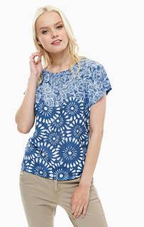 Синяя футболка с короткими рукавами Lerros