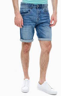 Синие джинсовые шорты с застежкой на молнию и болт Lerros