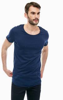 Синяя футболка из хлопка Jack & Jones