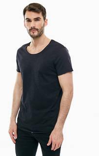 Черная футболка из хлопка Jack & Jones