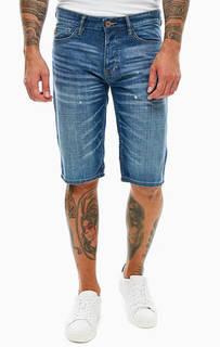 Синие джинсовые шорты с декоративными потертостями S.Oliver