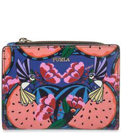 Разноцветный кошелек из сафьяновой кожи Furla