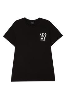 Черная футболка с надписью Diego Venturino