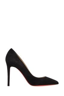 Черные замшевые туфли Pigalle 100 Christian Louboutin
